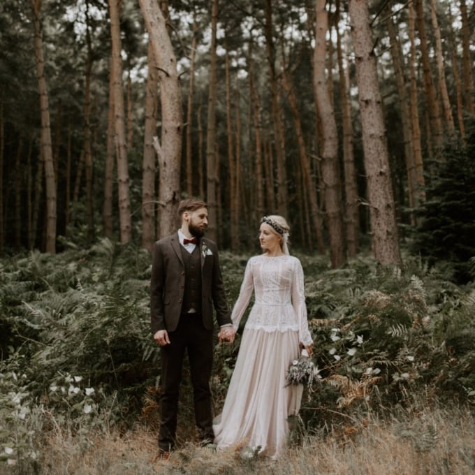 Bohemian Outdoor Woodland Wedding UK