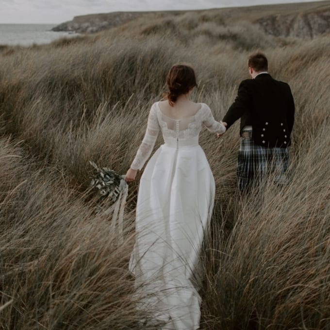 Wild Coastal Intimate Wedding Cornwall