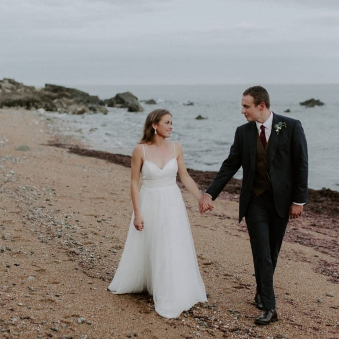 Botanical Coastal Isle of Wight Wedding