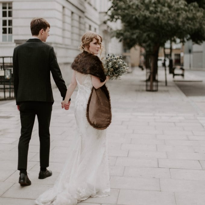 Stylish Chic London Wedding at Hackney Town Hall