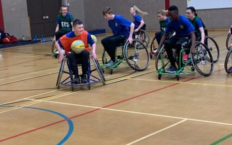 QEA wheelchair basketball event